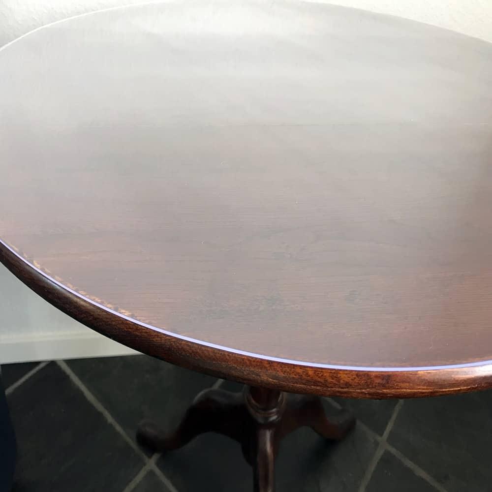Durchsichtige Tischdecke Rund Transparent -detail